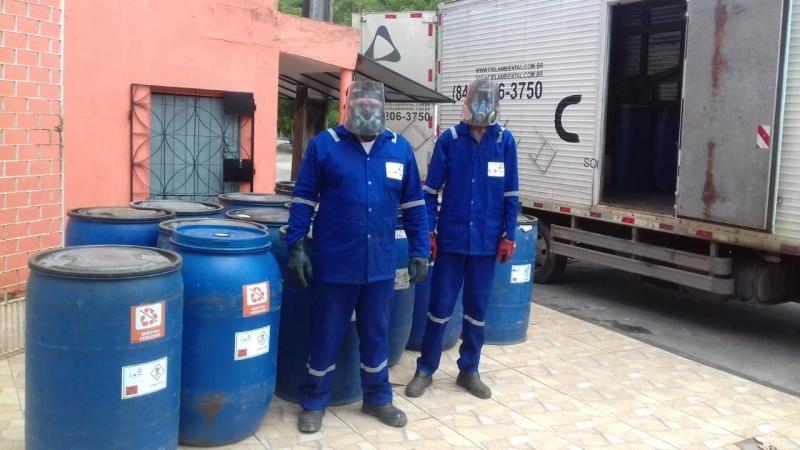 Coleta de residuos de saude