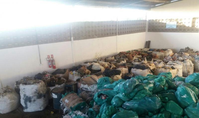 Destinação de resíduos sólidos