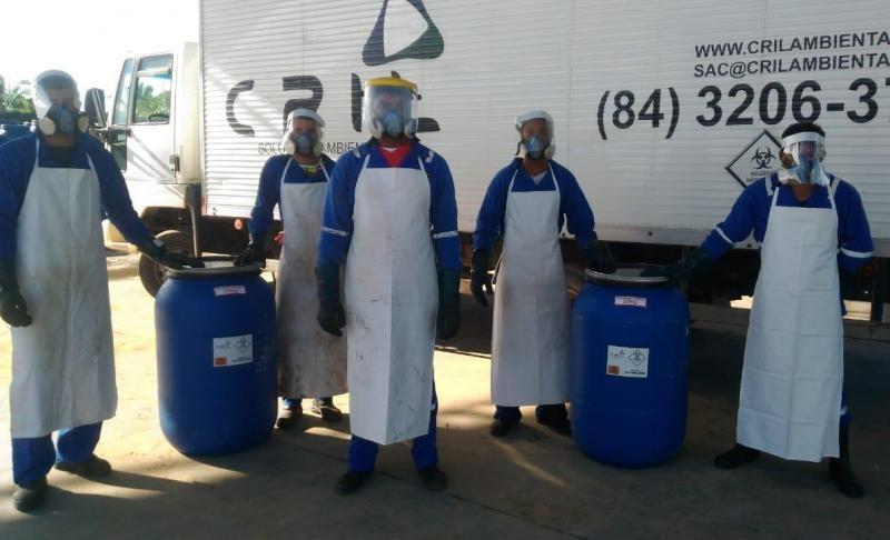Empresa de coleta de resíduos hospitalares