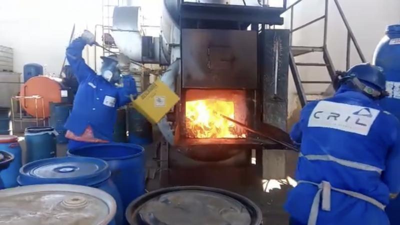 Incineração de resíduos hospitalares