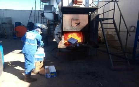 Incineração de residuos perigosos