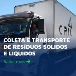 Coleta e transporte de resíduos sólidos e líquidos