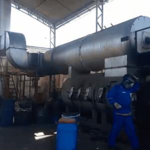 Incineração de lixo hospitalar